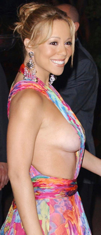 Mariah carey side boob
